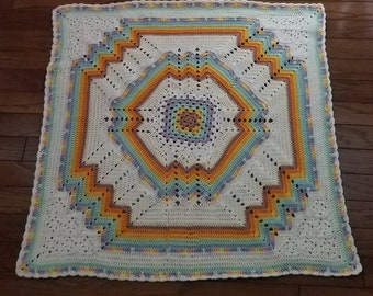 Unique Boy or Girl Baby Afghan - Ready to be Shipped
