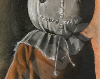 Sam Trick R Treat print of original charcoal drawing