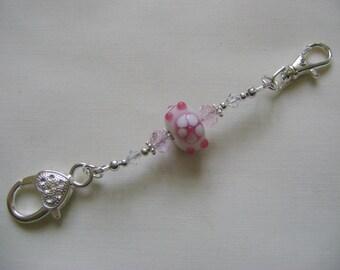 Candy Pink Flower Stitch Marker Holder