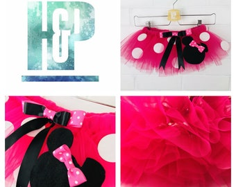Fans Will Love The 'Minnie Mouse' Inspired Tutu - Great Gift Idea