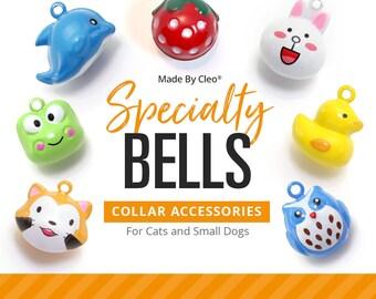 Cat Bell - SPECIALTY - Pet Collar Bells / Cat Collar Bell / Dog Bell / Cat Collar with Bell / Extra Loud Jingle Bell - (17 STYLES)