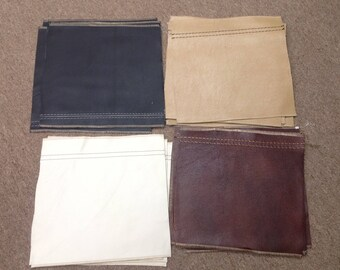 BR376.  Package of 23 Leather Cowhide Remnants in 4 Colors