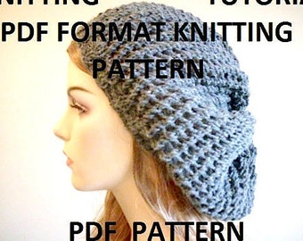 Pdf Knitting Pattern Instant Download Chunky Hipster Slouchy