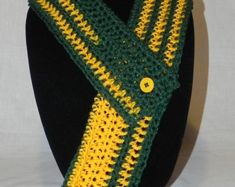 College Football Green and Gold Cowl Neckwarmer