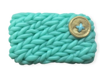 Decorative  Soap || Cozy Knitted Sweater Pattern With Button || Hand-sculpted To Look Like Your Mittens || Housewarming