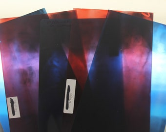 Vintage Dental X-Ray Lot - Red & Blue Colored 5 Total