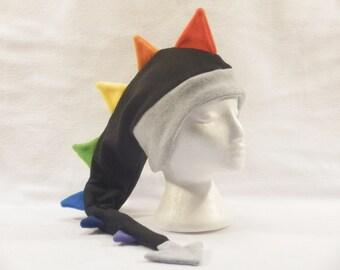 Arc en ciel Dragon polaire Hat femmes hommes enfants dinosaure oreille Rabat Hat par Ningen couvre-chefs