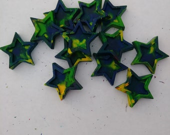 multi color star shaped crayons (dozen)