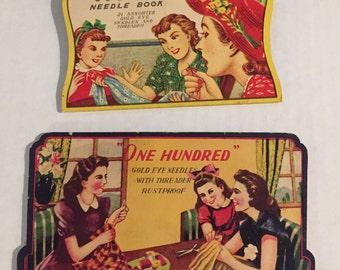 Vintage Sewing Needle Books