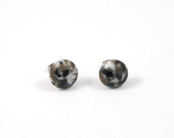 Pebble Glass Studs - Surgical Steel Earrings