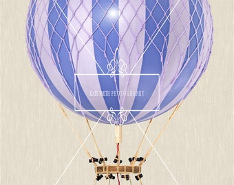 Buy 3 get one free. Blue Hot Air Balloon Prop Overlay, Extra Large File, High Resolution, Great For Newborns and Kids, Instant Download.