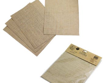 """Burlap Crafts 6 Sheets 100% Natural, 8 1/2"""" x 11"""" Printing & Stamping (Natural)"""