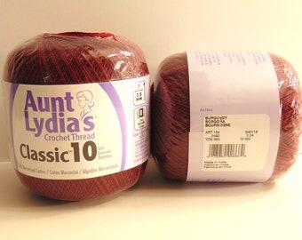 Burgundy - Aunt Lydia's Crochet Cotton Classic Size 10
