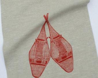 100% linen tea towel. Double layer fabric.