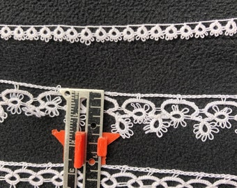 Hand Tatted Lace Edging by Hald-Yard in White Only