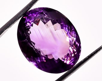 17.95 Ct. 100% Natural Amethyst Oval Faceted Loose Gemstone 18X15X12 mm HB-978