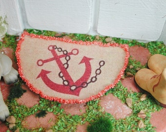 Dollhouse Miniatures, miniature doormat anchor, doormat in 1:12 for the doll house, doll parlor, collector
