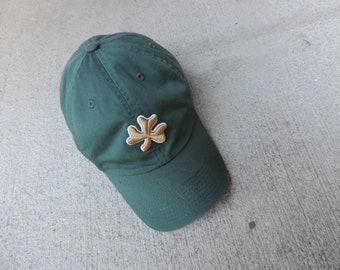 Vintage Notre Dame Baseball Cap Irish Green Gold Shamrock University Notre Dame  size 7