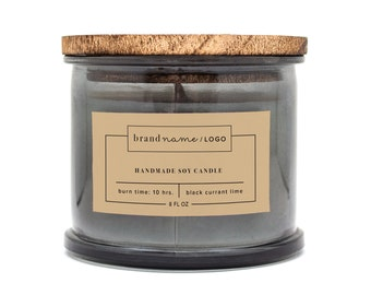 Custom Candle Label, Labels for Cosmetics, Labels for Candles, Product label design, Labels for Bath, Premade Packaging, Custom label
