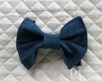 Dog Bow Tie, Denim, Bow Tie For Dogs, Dog Neckwear, Pet Supplies, Pet Accessories, Pet Clothing,Accessories & Shoes,Dogs