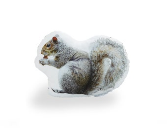 Squirrel Printed Pillow
