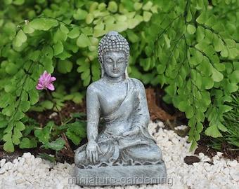 Buddha Sitting Lotus for Miniature Garden, Fairy Garden