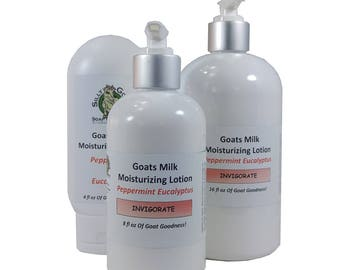 Foot Cream, Foot Lotion, Peppermint Foot lotion, Peppermint Body Lotion, Peppermint goat milk lotion,  foot care products, eucalyptus lotion