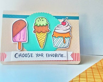 Birthday Card - Ice cream
