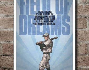 """FIELD OF DREAMS Movie Quote Poster (12""""x18"""")"""