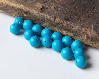 Turquoise Colored Beads, Plastic Beads, Lucite Beads, Blue Beads, 6mm Beads (15), Etsy, Etsy Jewelry, Etsy Beads, Destashed Beads