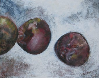 """abstract painting on canvas """"Alloy round"""""""