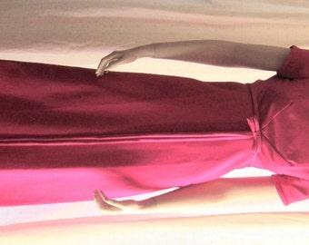 Vintage 60s dress Emma Domb evening dress hot pink empire waist Bust 32