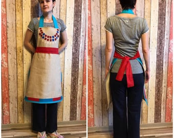 Horizon Zero Dawn inspired Aloy style linen apron