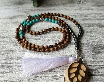 CLARITY - 108 Mala - Bellabeat Leaf Necklace
