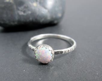 Galaxy Ring - Opal Sterling Silver Ring
