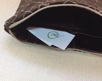 Velvet Brown clutch Bag
