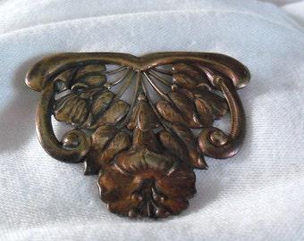 Vintage Floral Stamping Brass