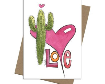 Southwest Saguaro Love | Valentine Card