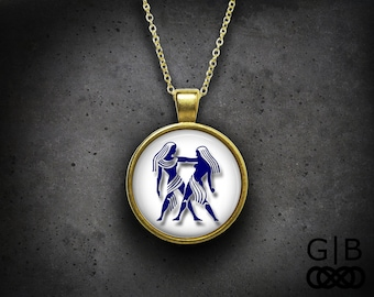 Gemini Necklace Zodiac Gemini Pendant Necklace Gemini Zodiac Necklace Jewelry Gemini Necklace Pendant Jewelry Zodiac Gemini Pendant Necklace