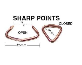 100 Qtyc.s. Osborne & Co. No. 773 - Hog Rings w/ Sharp Points  Mpn#64799