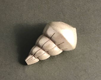Huge Hill Tribe Silver Shell Bead - H115