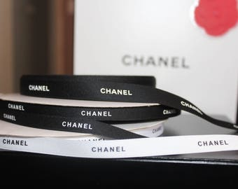 "Authentic Chanel ribbon 3/8"" sold by the yard 36 inches"