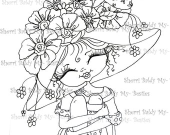 INSTANT DOWNLOAD digitale Digi Stamps grote Eye Big hoofd poppen Digi Besties Fancy Pants 74 Besties door Sherri Baldy