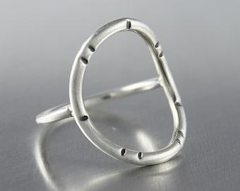 Circle Ring, Sterling Silver Ring