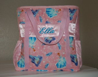 Quilted Diaper Bag Made From Cinderella Fabric