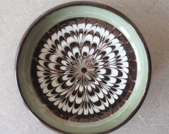 Vintage Herman Kähler Dish, Vintage Midcentury Modern Ceramic Dish, Scandinavian Pottery, Made in Denmark, SMALL Dish, Danish Trinket Dish