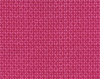 Field Study Fabric by Alice Kennedy for Timeless Treasures Geometric Tonal Pink Leaves Berry