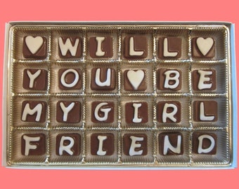 Will You Be My Girlfriend Chocolate Message Romantic Gift for Her Unusual Creative Way Write A Love Letter Idea Box Fun by What Candy Says