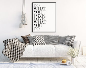 Do What You Love Print, Inspirational Quote, Minimalist Typography Print, Gallery Wall Art Print, Office Art, Typography Wall Art