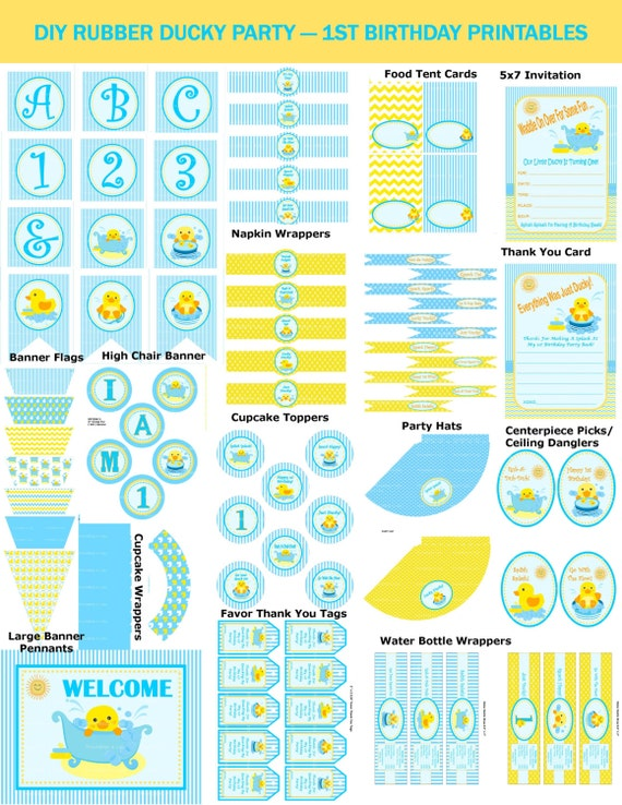 1st Birthday Rubber Duck Party DIY Rubber Ducky Party Duck